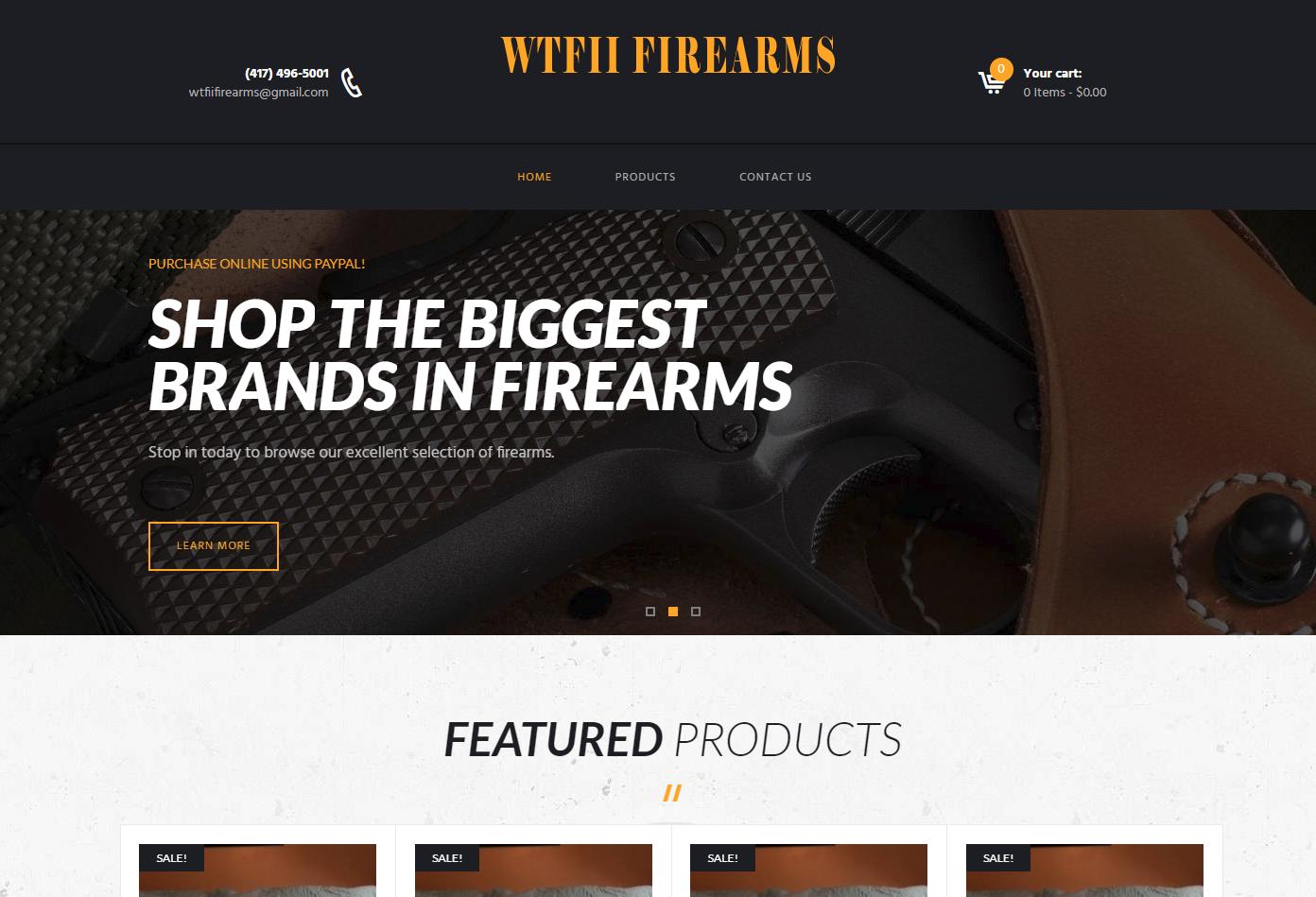 WTFII Firearms Sales
