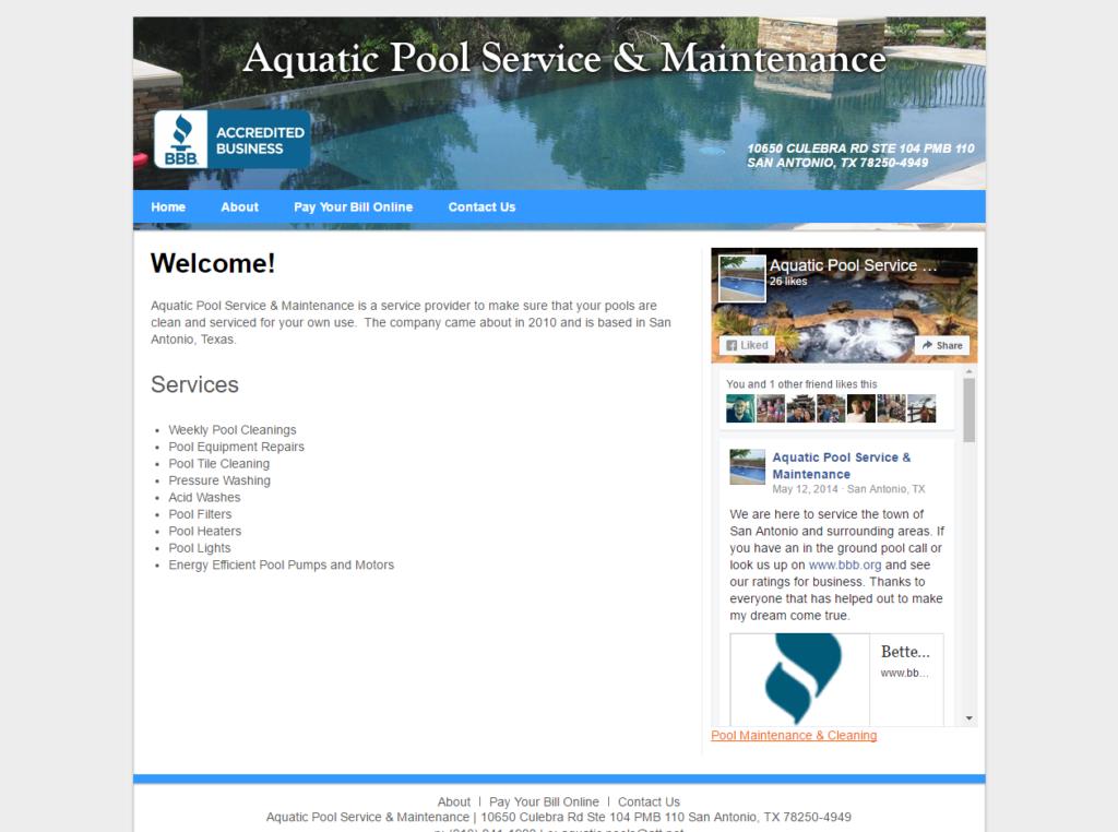 Aquatic Pool Service & Maintenance
